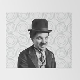 Charlie Chaplin Old Hollywood Throw Blanket