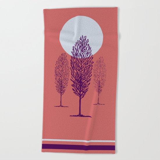 rosa di sera Beach Towel