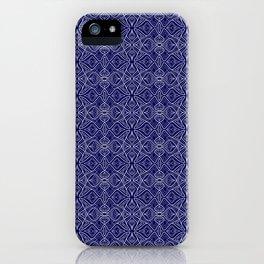 Dark Intricacy Persian Rug Magic Carpet Midnight Blue Indian Pattern Spirit Organic iPhone Case