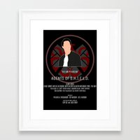 agents of shield Framed Art Prints featuring Agents of S.H.I.E.L.D. - Ward by MacGuffin Designs