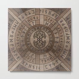 Web of Wyrd The Matrix of Fate and Tree of life Metal Print