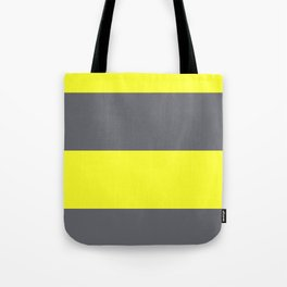 yellow and gray horizontal stripes Tote Bag