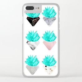 Assorted Succulents Clear iPhone Case