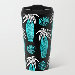 Palm Tree on Black Travel Mug