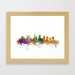 Columbus Ohio Skyline Framed Art Print