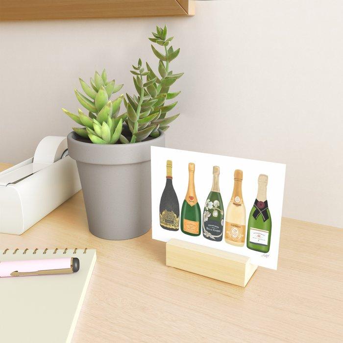 Champagne Bottles Mini Art Print