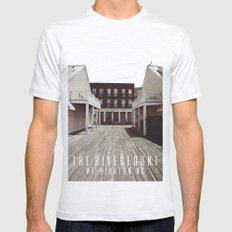RIVER FRONT II Ash Grey SMALL Mens Fitted Tee