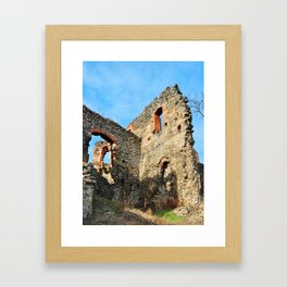 soimos stronghold iside architecture detail Framed Art Print