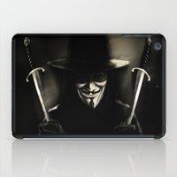 vendetta iPad Cases featuring V for Vendetta (e5) by Ezgi Kaya