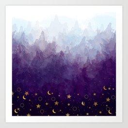 A Sea of Stars Art Print