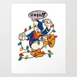 Christmas DonaldDuck Art Print