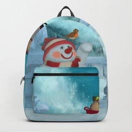 Christmas design, Santa Claus with reindeer Backpack