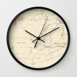 Railroad & The Northwestern States in 1850 Wall Clock