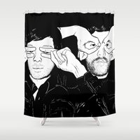 justice league Shower Curtains featuring Justice by SAIMIN