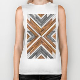 Urban Tribal Pattern No.4 - Wood Biker Tank