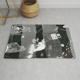 a woman's place is in the lab Rug