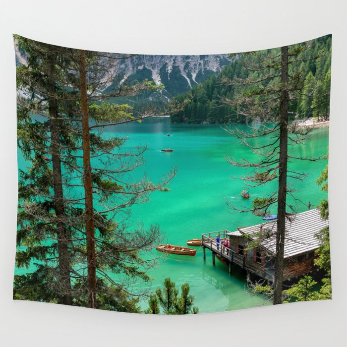 Pragser Wildsee Wall Tapestry