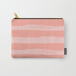 Rose Pink Stripes Design Carry-All Pouch