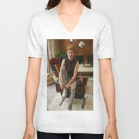 niall horan V-neck T-shirts featuring Niall Horan by behindthenoise