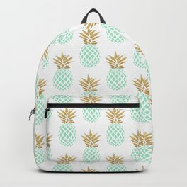 Elegant faux gold tropical pineapple pattern Backpack