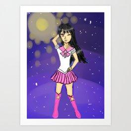 Seira as sailor scout Art Print