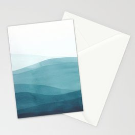 Watercolor Sea | Dip Dye Blues Stationery Cards