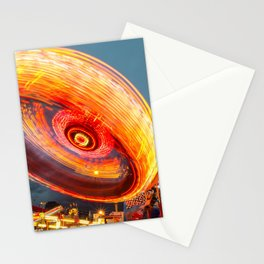 Amusement Park Ride Long Exposure Stationery Cards