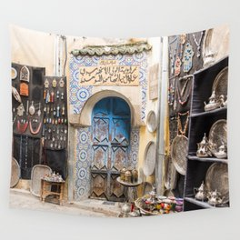Doorway - Fes Ancient Medina Wall Tapestry
