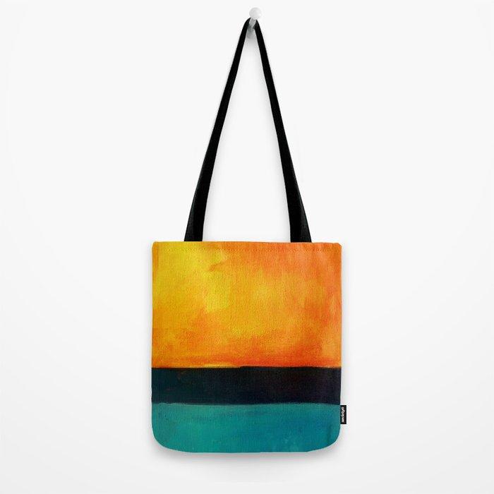 Mark Rothko Interpretation Orange Blue Tote Bag
