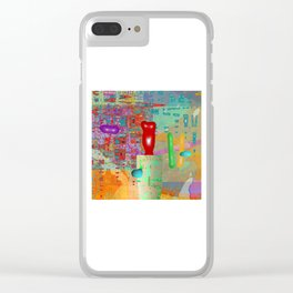 unravel Clear iPhone Case