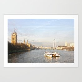 The parliament and the eye Art Print