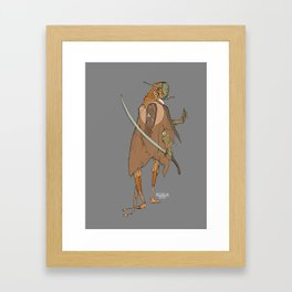 Robot with a Scimitar Framed Art Print