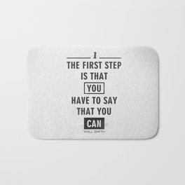 Will Smith quote - Motivational poster Bath Mat