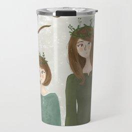 Queen Susan and Queen Lucy Travel Mug
