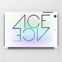 ace iPad Cases featuring Ace Ace by Covered In Moons