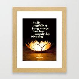 """Inspirational Quote Art """"Dream come true..."""" Framed Art Print"""