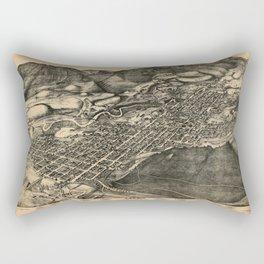 Bird's Eye View of Aspen, Colorado (1893) Rectangular Pillow