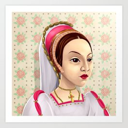 Catherine Howard, Katherine Howard, British Royalty, Monarch Art Print