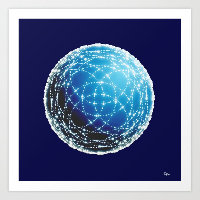 The Blue Orb Art Print