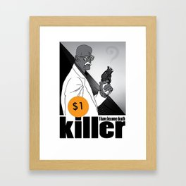One dollar killer Framed Art Print