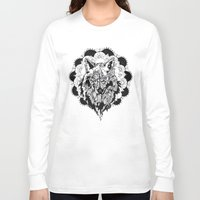 bad wolf Long Sleeve T-shirts featuring Bad Wolf by Carina Maitch