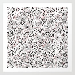 Bicycle Pattern Fun Art Print
