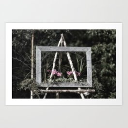 Flowering Easel Art Print