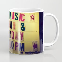 Live music sign Coffee Mug