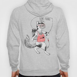 Cat gone Fishing Hoody