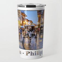 Rush Hour in Vigan City Travel Mug