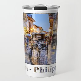 Rush Hour in Vigan City Travel Mug