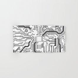Circuit Board Art Hand & Bath Towel