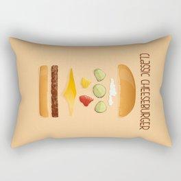 Classic Cheeseburger Rectangular Pillow