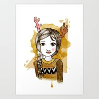hippie Art Prints featuring Hippie by Janry